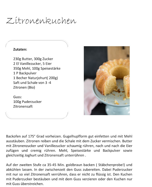 Zitronenkuchen, Rezept