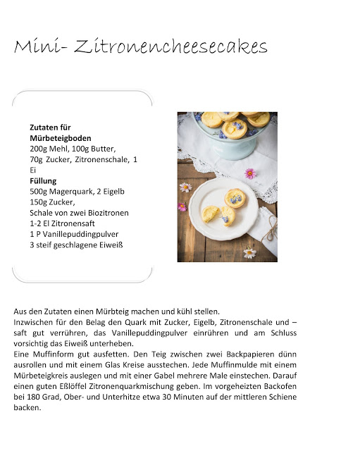 Zitronencheesecake, Cupcakes, Rezept