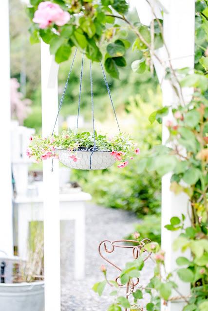 Gartendeko DIY, Hängekorb