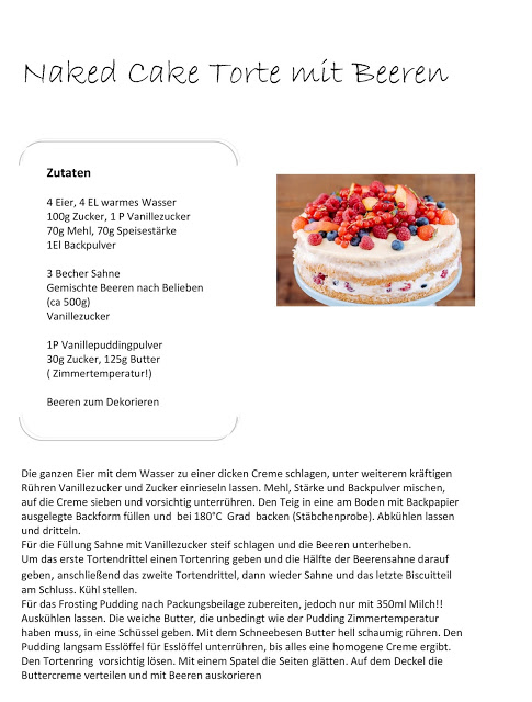 Beerentorte, naked cake