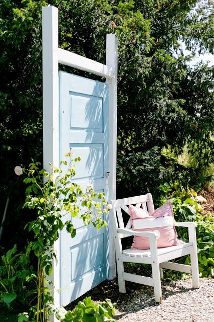 Sichtschutz, alte Türe