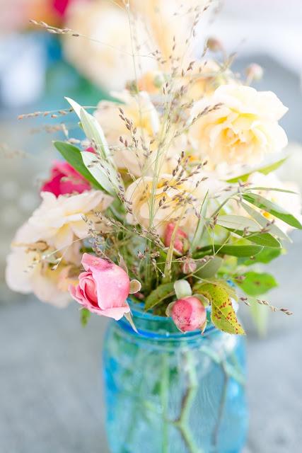 Friday Flowerday, Tischdeko, Pomponetti