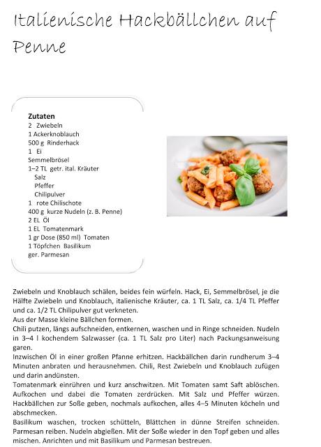 Schnelle Pasta, Hackbällchen, Pomponetti, Rezept