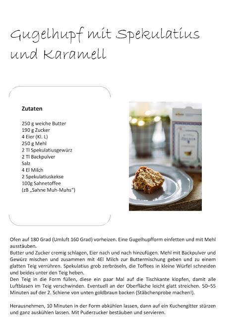 Gugelhupf mit Spekulatius und Karamell, Pomponetti, Adventskaffee