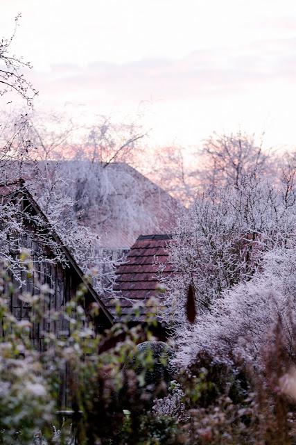 Winterliches Abendrot, Pomponetti, Winterimpressionen