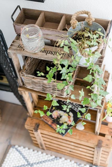 Regal aus alten Weinkisten, Pomponetti
