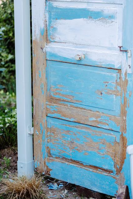 Alte Türe als Sichtschutz, Pomponetti