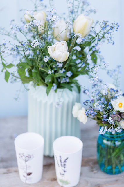 Weekendflowers, Pomponetti, Blumen- Upcycling, Vergissmeinnicht