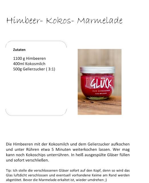 Himbeer- Kokos- Marmelade oder Glück im Glas, Pomponetti