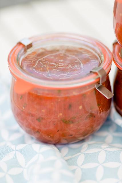 Sommertomaten im Glas, ein Einmachrezept, Pomponetti