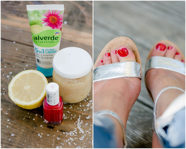 Summerfeeling, Pomponetti, schöne Füße, Zitronenpeeling selbstgemacht