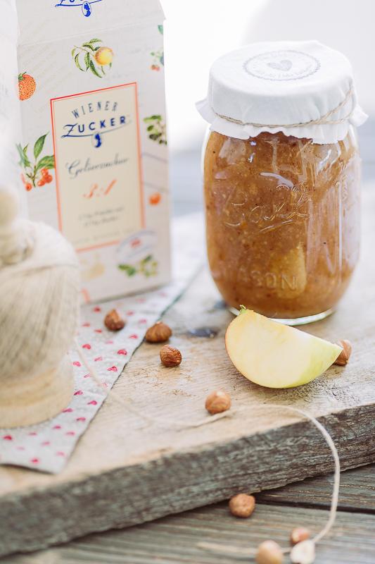 Lust auf eine perfekte Herbstmarmelade, Pomponetti, Karamell- Bratapfel mit Haselnuss, Marmelade