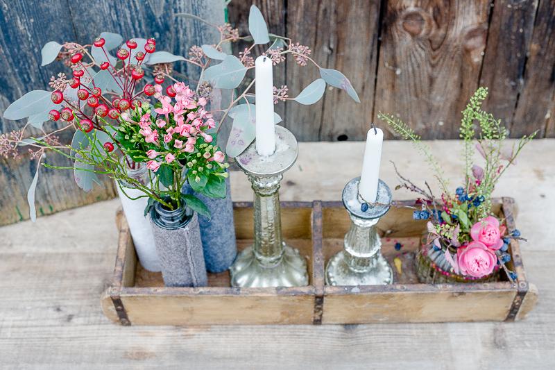 Von Wochenendblümchen und Regaldeko, Pomponetti,  Deko zwischen Herbst und Advent