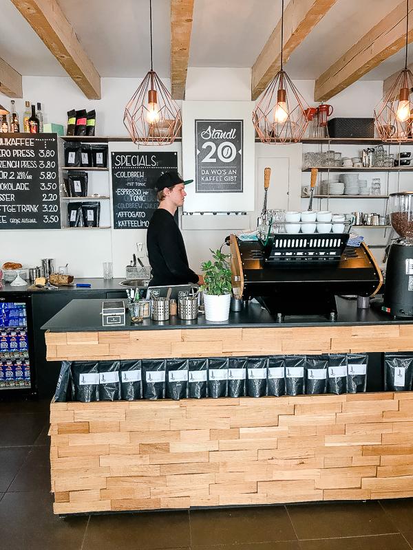 Kleine Schätze- große Städte... das Standl 20 in München, Elisabethmarkt Maxvorstadt,Pomponetti, Kaffeeladen und Brewbar