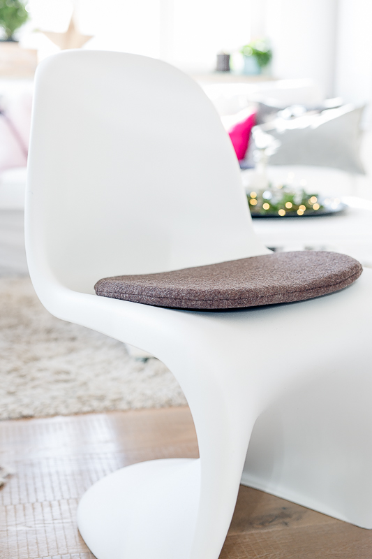 Pantonchair Sitzkissen, selbstgenäht, Etsyshop Pomponetti Interior, Eamescushion