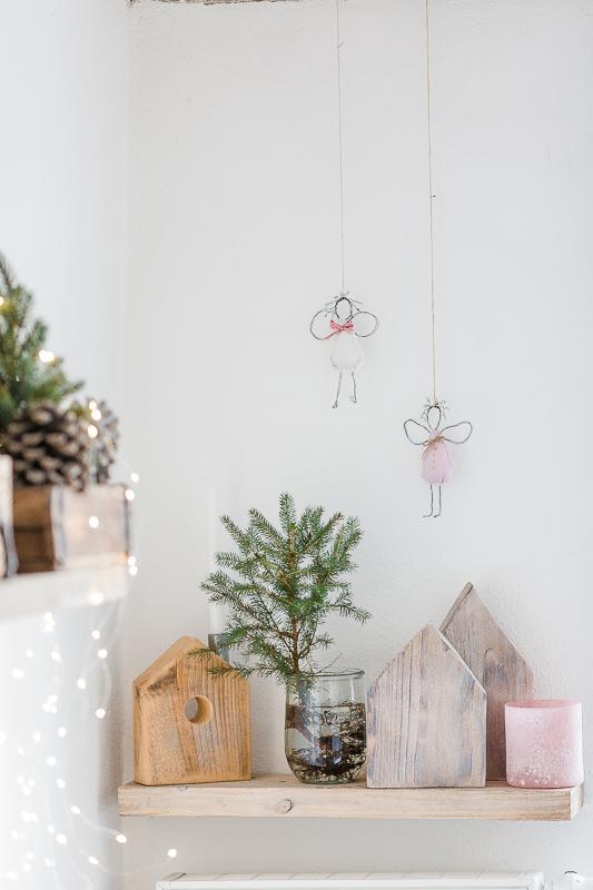 Weihnachtsdekoration Drahtengel, DIY Idee für Weihnachten, Pomponetti