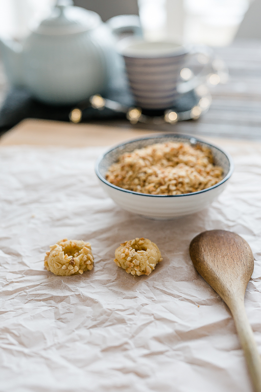 Die besten Weihnachtsplätzchen- Rezepte,Haselnuss-Karamell- Kekse, Weihnachtsbäckerei, Pomponetti