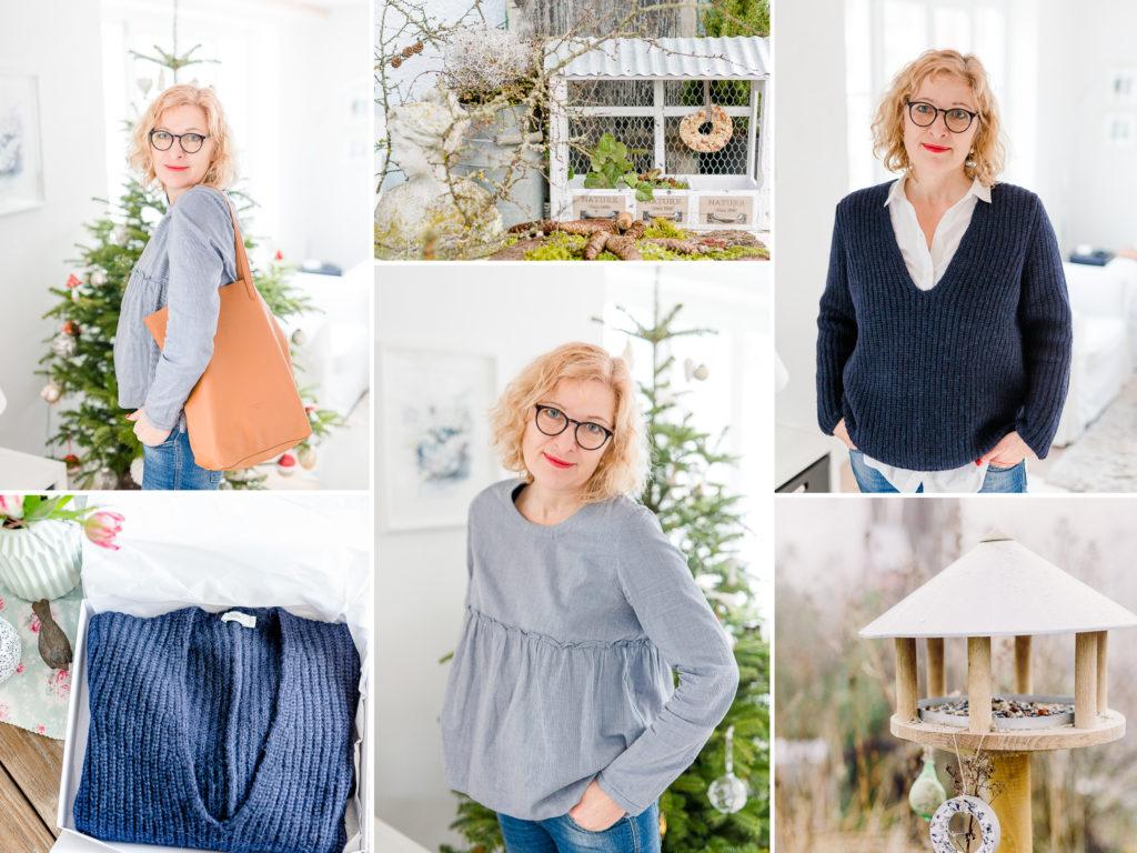 Monatscollage Januar mit Fashion, Pomponetti, Monatsrückblick
