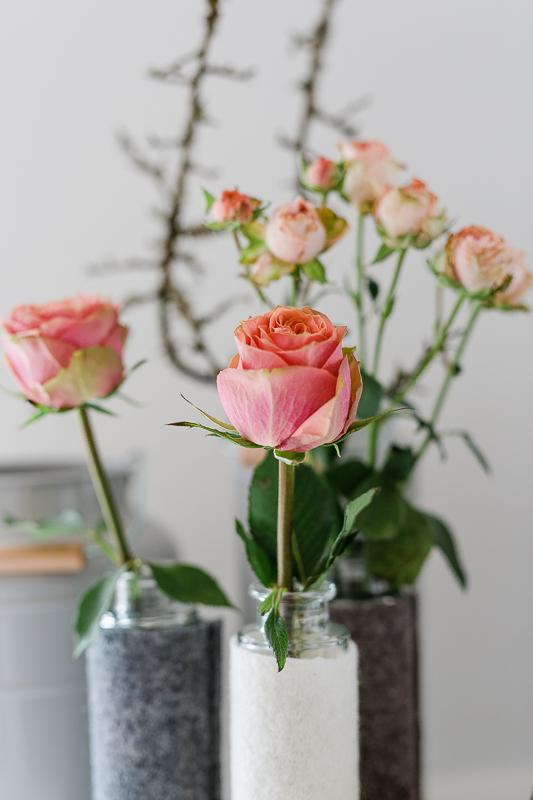 Januardekoration mit Frühlingskracher, Pomponetti, Wochendblumen, Friday Flowerday, Interior