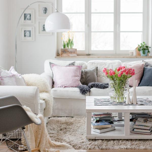Friday Flowerday im Wohnzimmer, Pomponetti, Freitagsblümchen