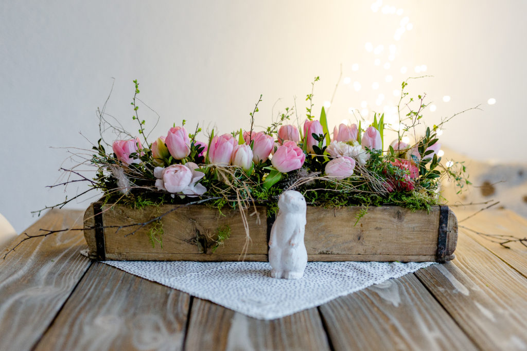 Frühlingsgesteck, DIY, Pomponetti