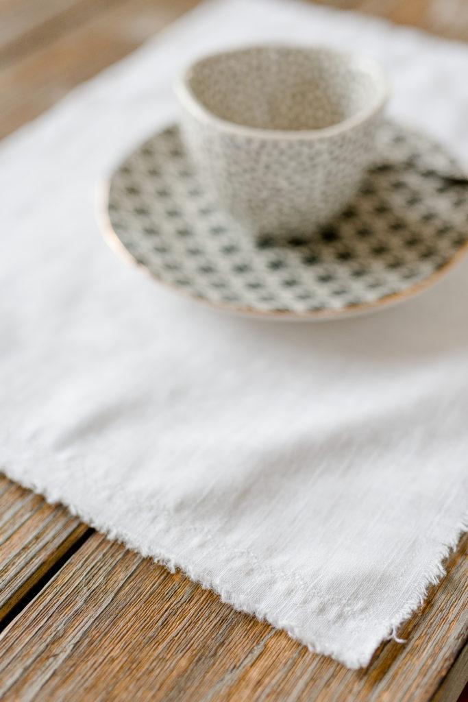 Tischsets aus Leinen selbstgenäht, Pomponetti, DIY