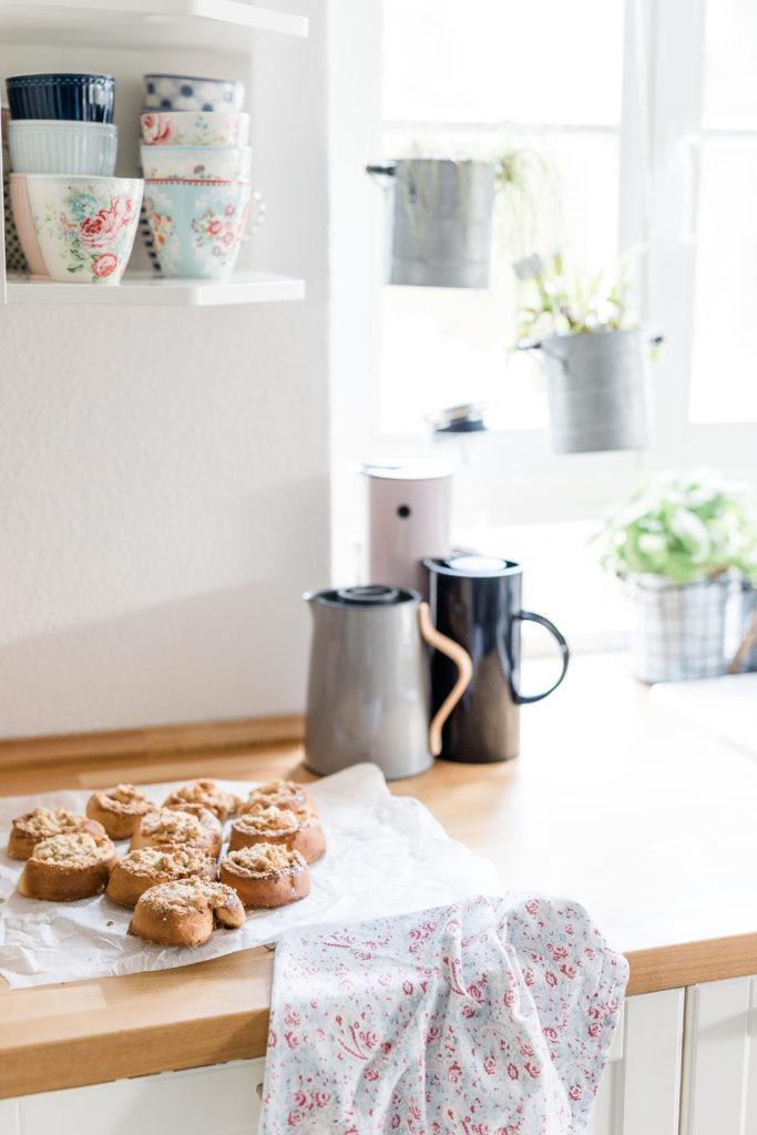 Norwegische Zimtschnecken mit Streuseln, Pomponetti, Rezept