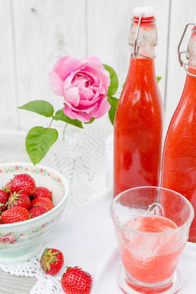Die leckersten Erdbeerrezepte, Erdbeerlimes selbstgemacht, Pomponetti