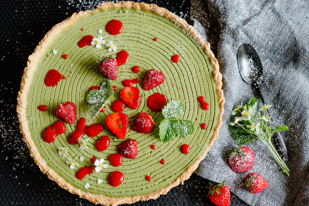 Naked Cake zum Muttertag, Pomponetti, Matcha PannaCotta Tarte