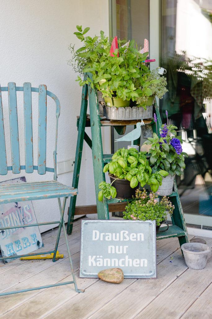Geburtstagsfeier in Tübingen, Pomponetti, Gartenimpressionen