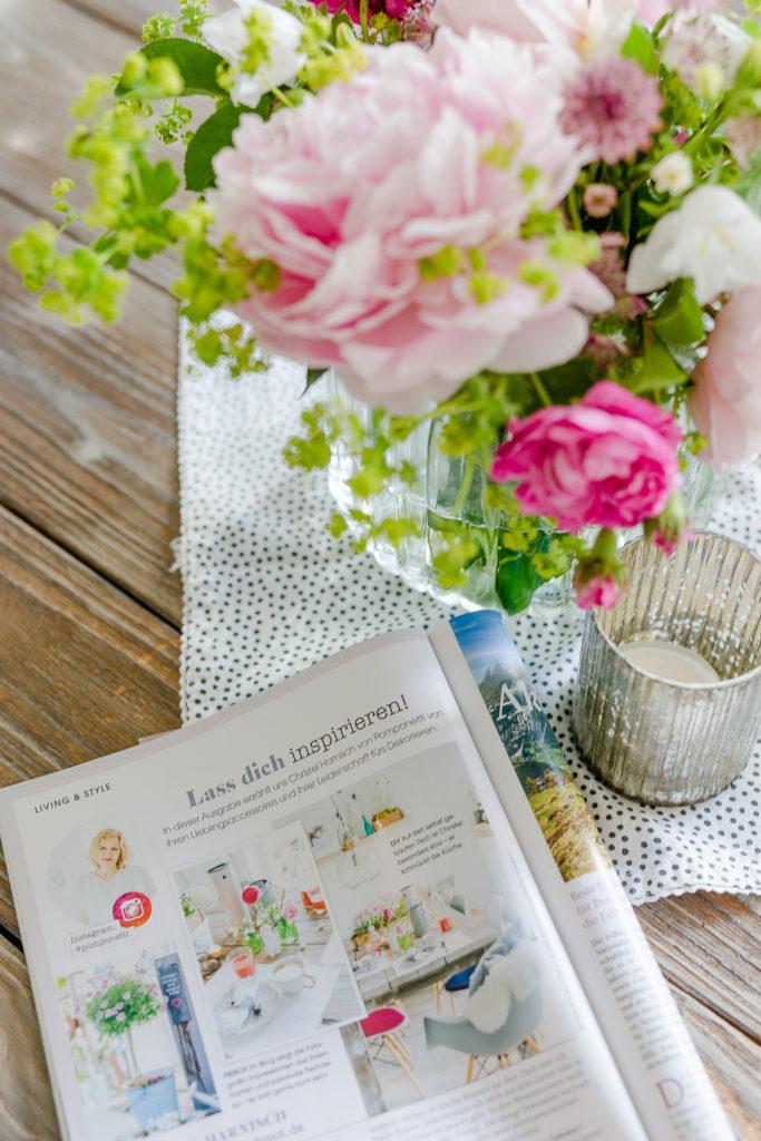 Zum Wochenende Blumen aus dem Garten, Pomponetti, Landhaus Living