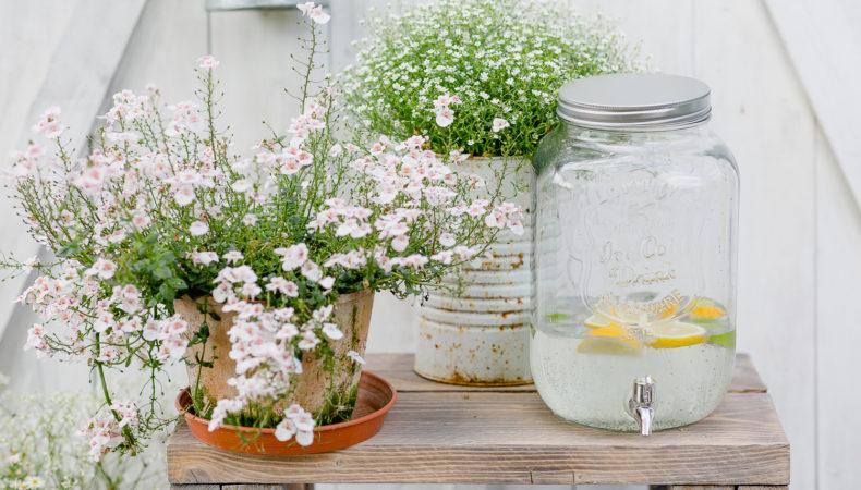 Ein Blumentisch für die Gartenterrasse selbstgebaut