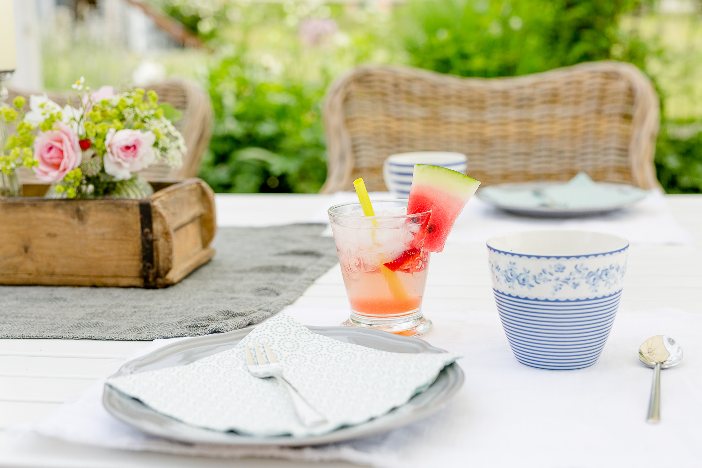 Pimp my Outdoor-Room oder Chillen auf der Terrasse, Pomponetti, Mocktail Erdbeer-Melone