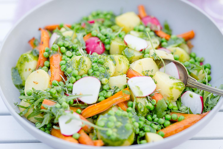 Kartoffelsalat mal anders... ein leichter Sommersalat, Sommerrezept, Pomponetti