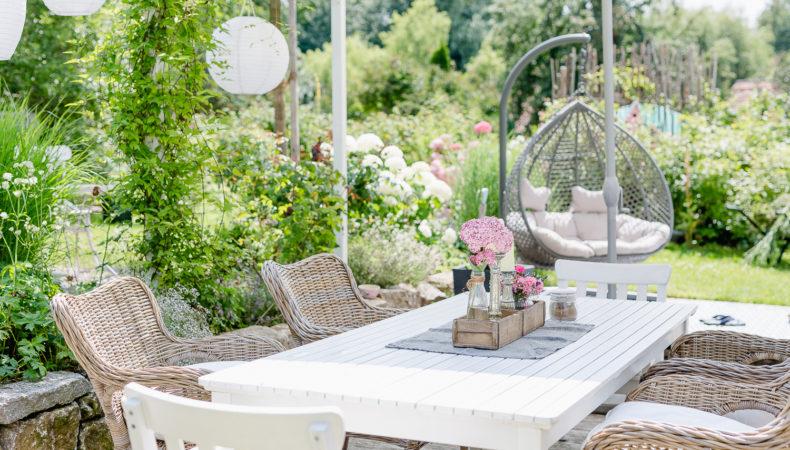 Outdoor Living auf der Terrasse oder meine Wochenendblümchen