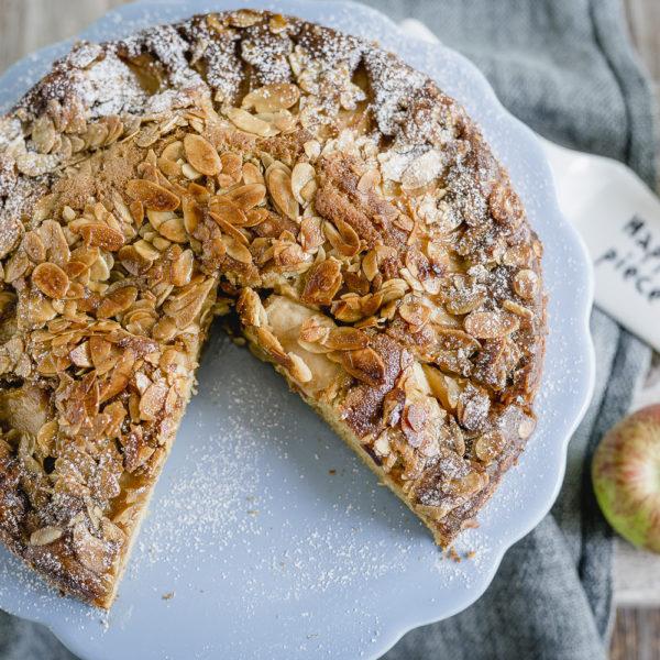 Apfelkuchen und herbstliches Gesteck aufs Wochenende, Pomponetti