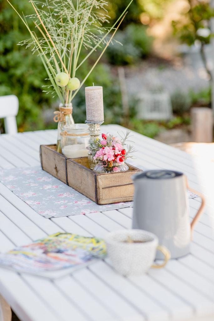 Altweibersommer auf der Terrasse, September Mood, Pomponetti