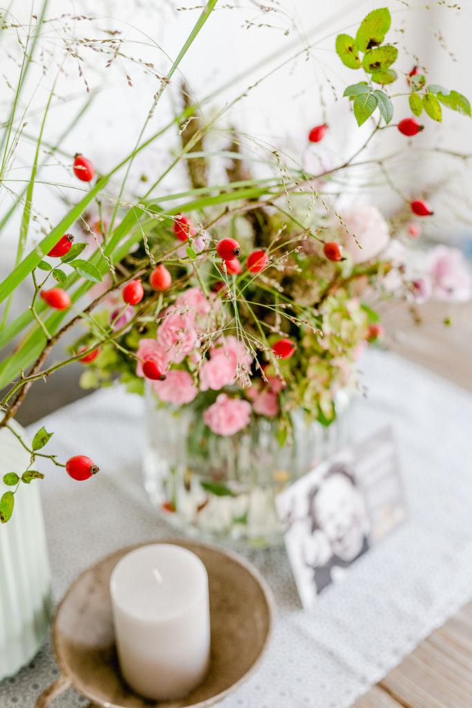 Herbstlicher Gartenstrauß, Blumengrüße zum Wochenende, Pomponetti