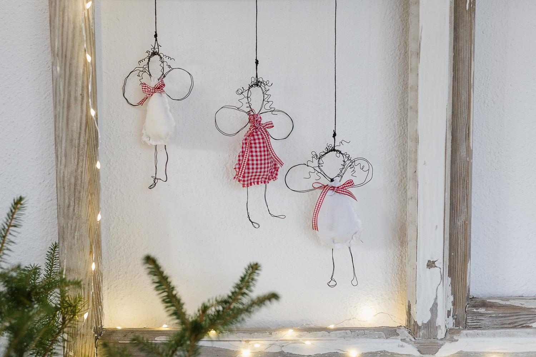 Engel DIY für Weihnachten oder neue Drahtengel, Pomponetti