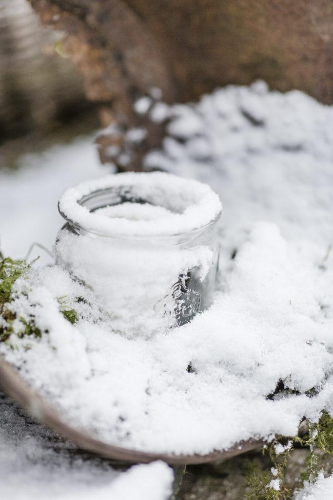 Wintereinbruch im Garten, sowie ein Winterrezept, Pomponetti