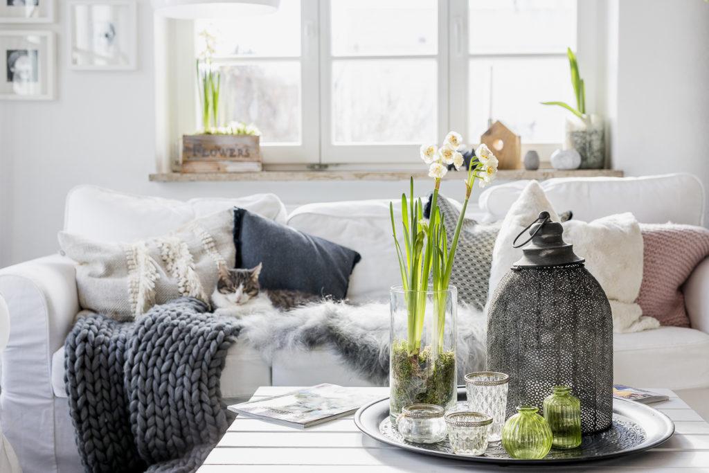 Leichte Frühlingsanzeichen im Wohnzimmer, Pomponetti