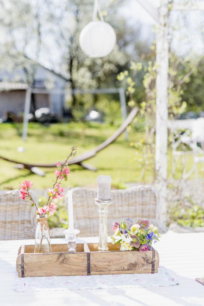 Terrassenregal DIY oder Karfreitagsblümchen, Pomponetti
