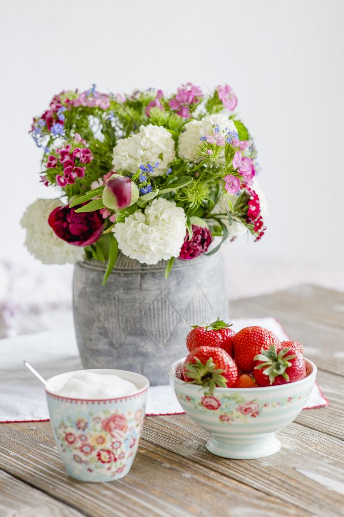 Spargelpasta und Montagsblümchen, Pomponetti