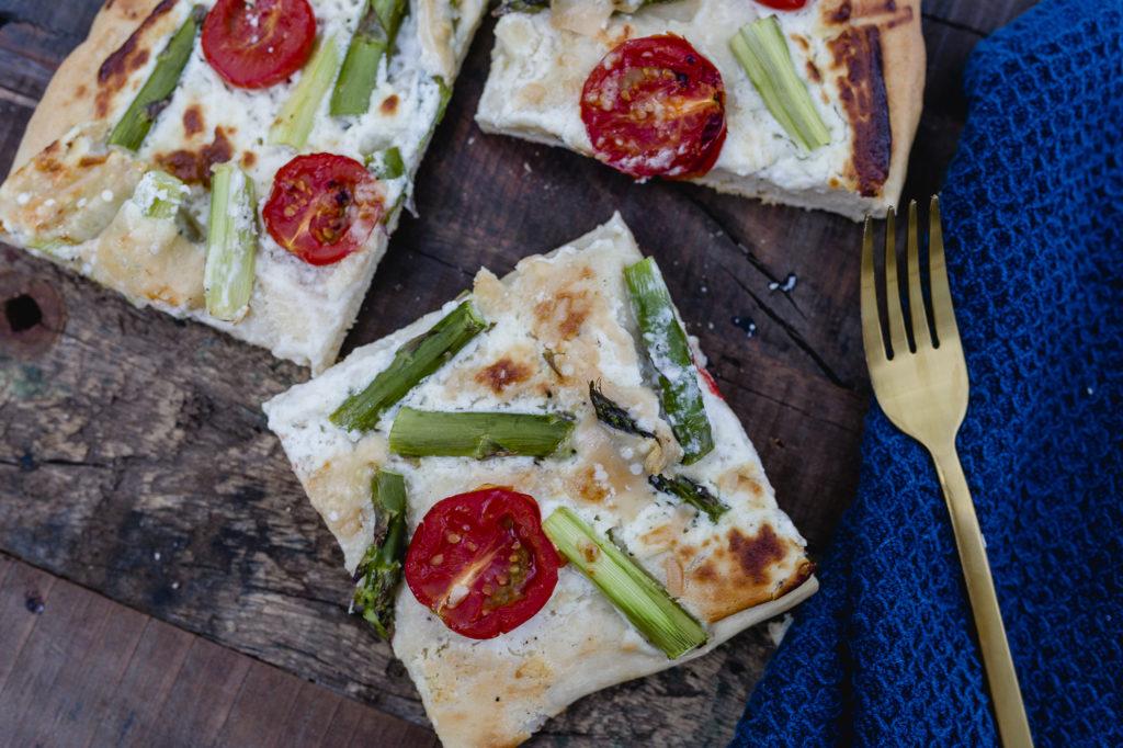 Spargelpizza oder noch ein schnelles Spargelrezept,Pomponetti