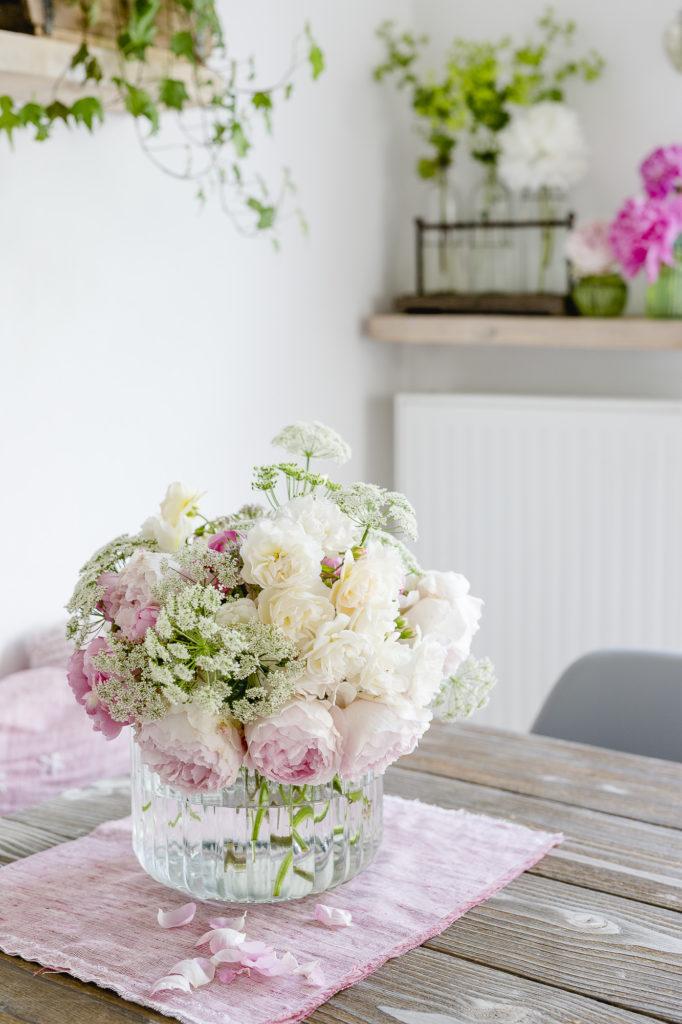 Rosen aus dem Garten zum langen Wochenende, Pomponetti