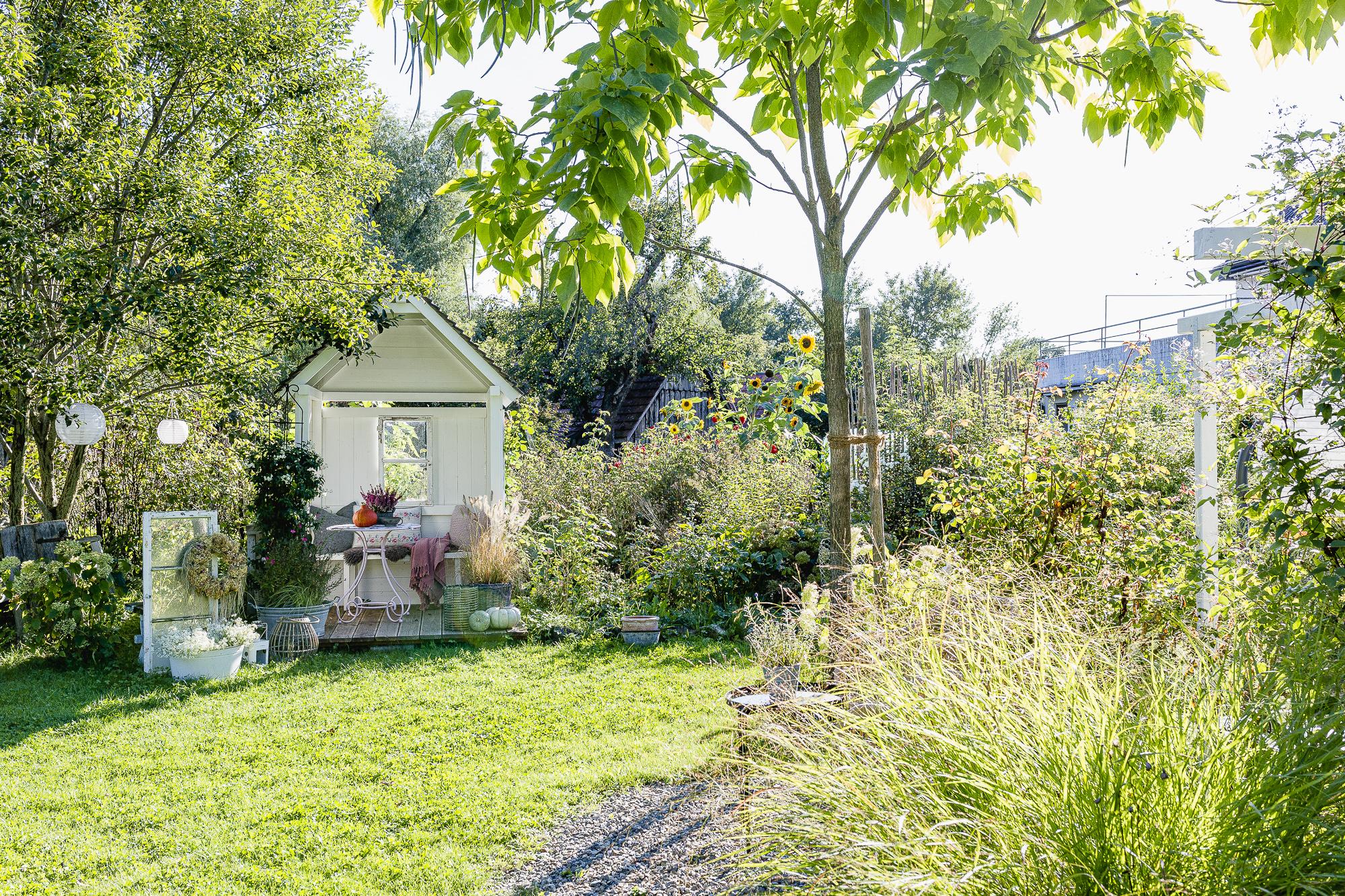 Gartenlaube im Herbst, Pomponetti