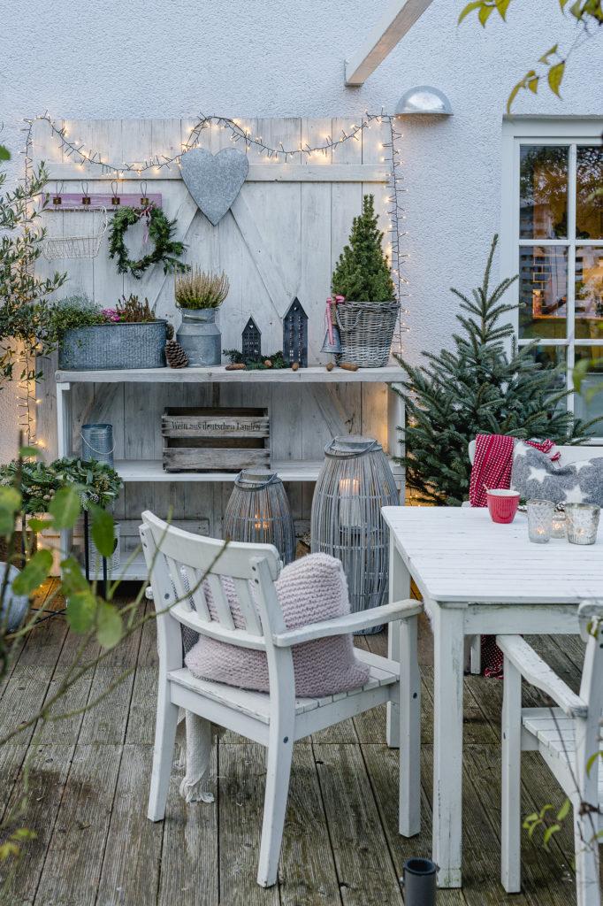 Weihnachtsstimmung auf der Terrasse, Pomponetti