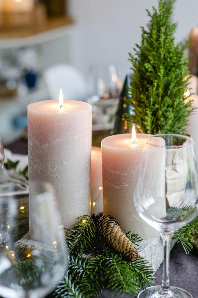 Weihnachten 2019, Tischdeko, Pomponetti