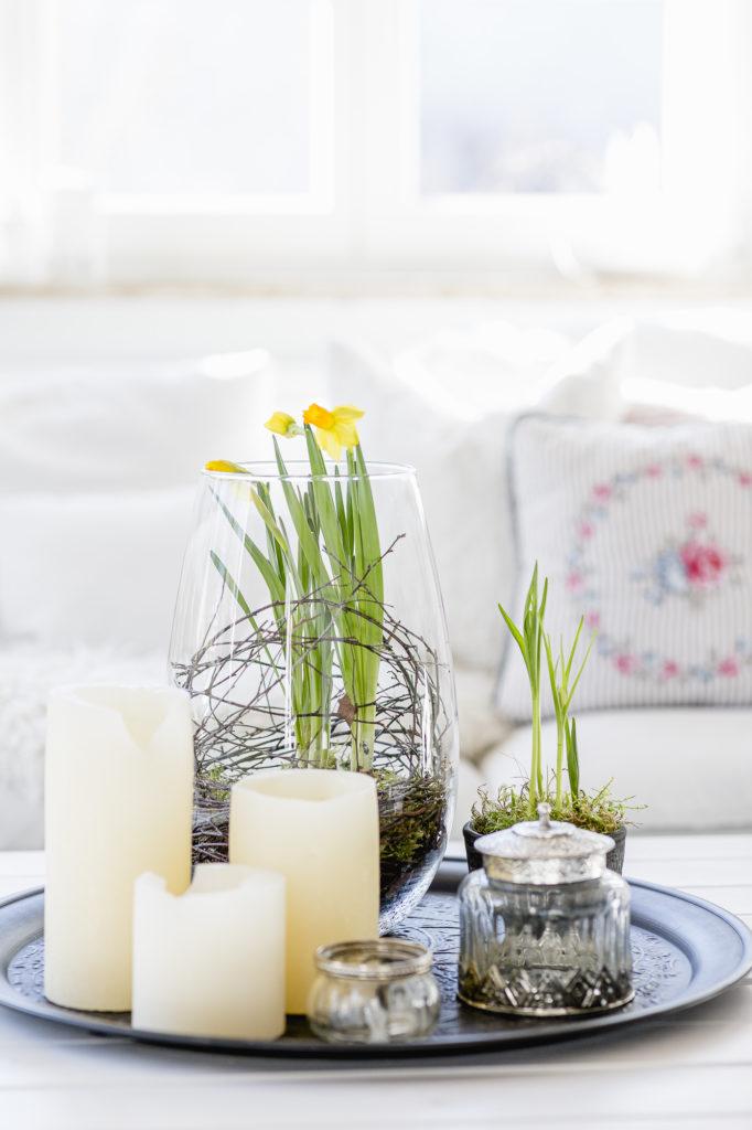 Frühlingsdeko Wohnzimmer, Pomponetti