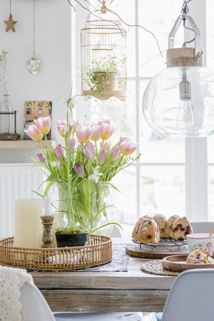 Sonntagskuchen, Zitronenkuchen mit Kirschen, Pomponetti